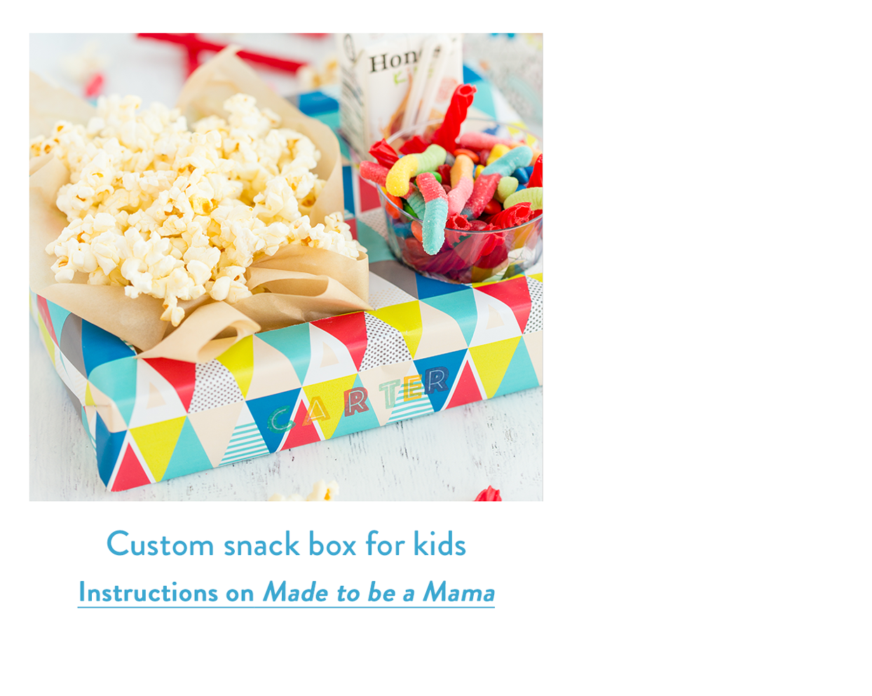 Custom snack box for kids