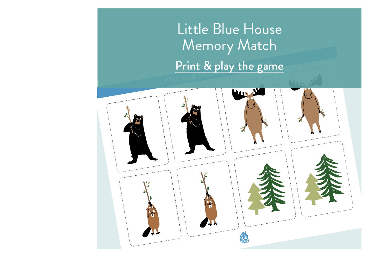 Little Blue House Memory Match Game