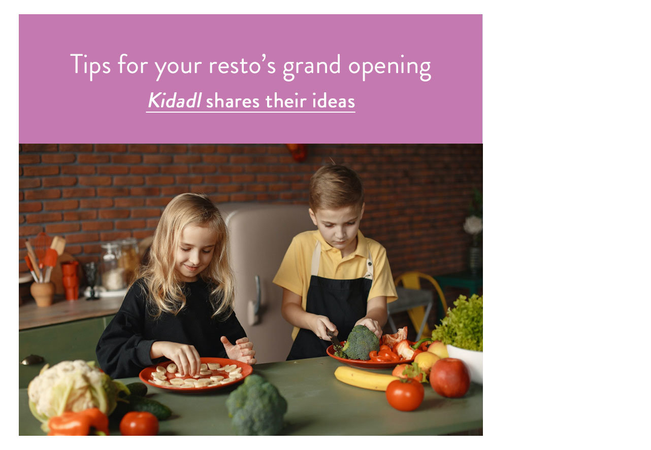 Tips for your resto's grand opening