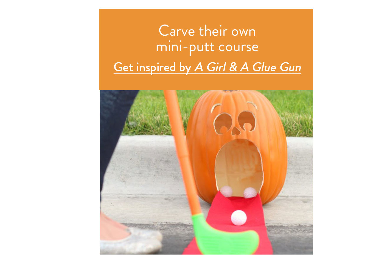 Carve their own mini-putt course