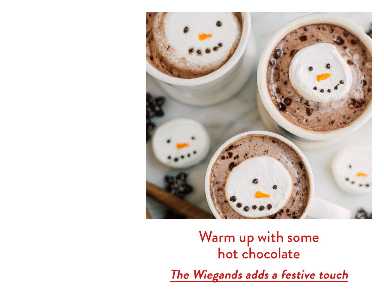 Warm up with some hot chocolate