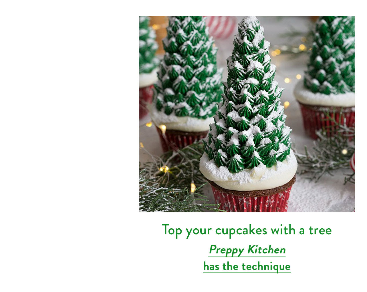 Top your cupcakes with a tree