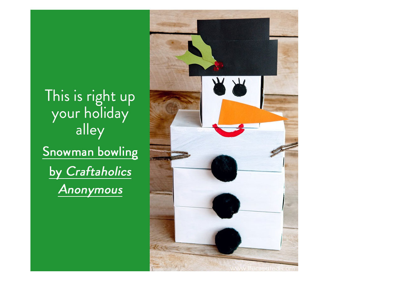 Snowman bowling by Craftaholics Anonymous