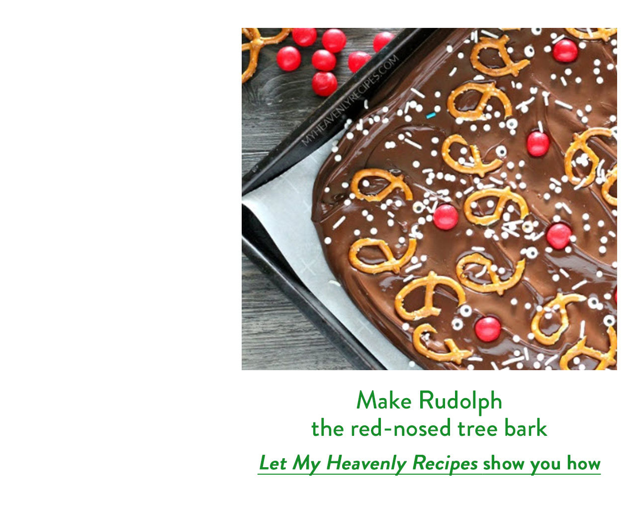 Make Rudolph the red-nosed tree bark