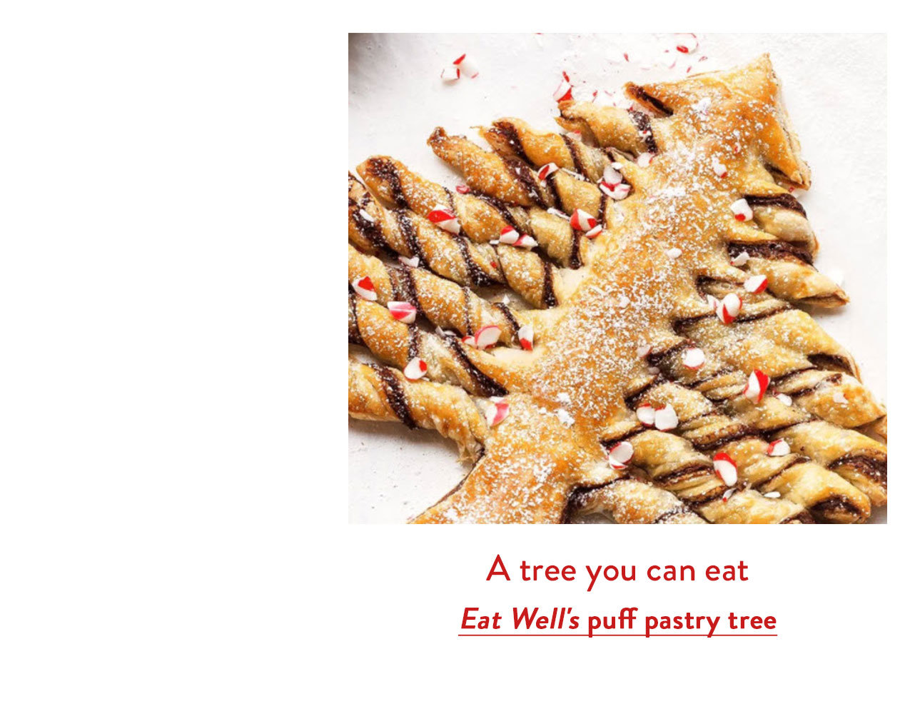 Eat Well's puff pastry tree