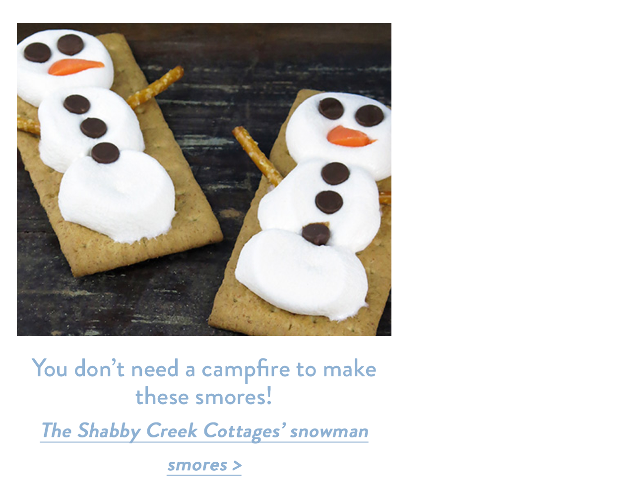 You don't need a campfire to make these smores!