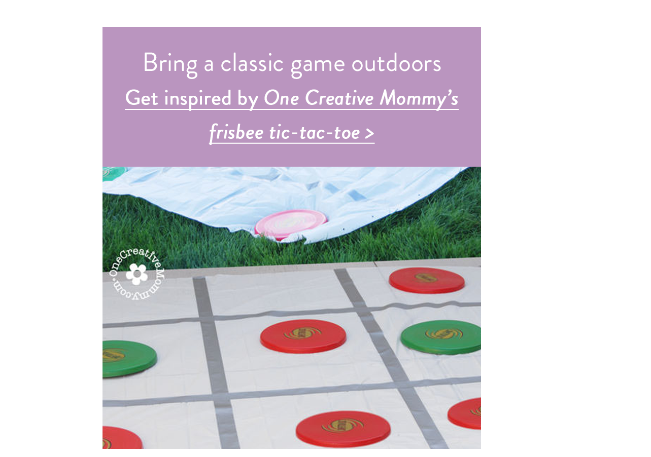 Bring a classic game outdoors