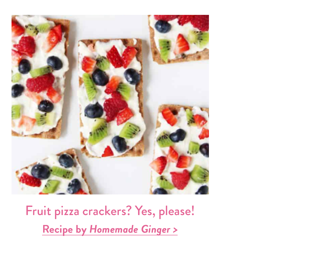 Fruit pizza crackers? Yes, please!