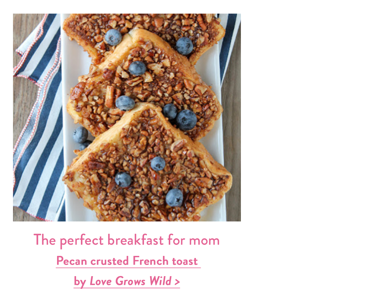 The perfect breakfast for mom