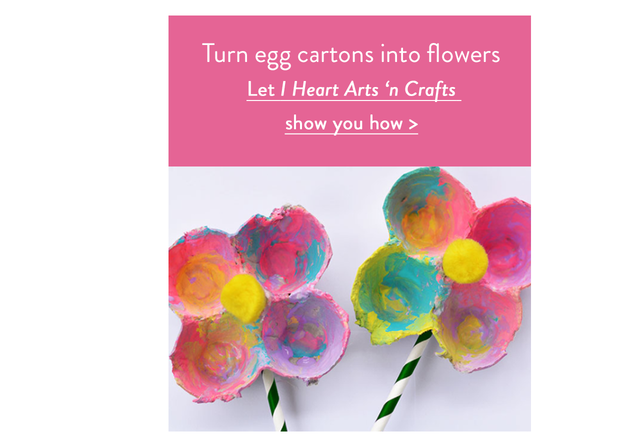 Turn egg cartons into flowers