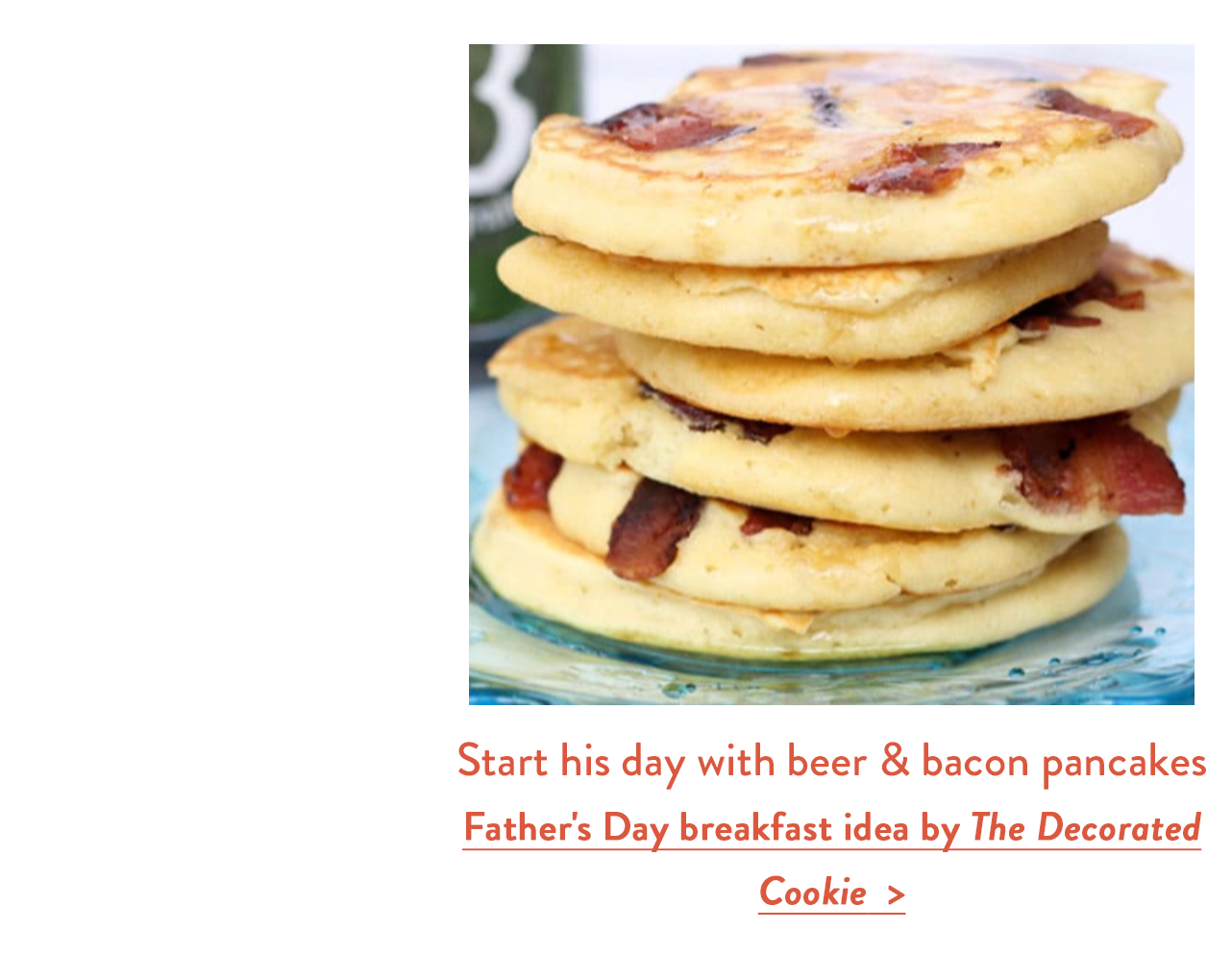 Start his day with beer & bacon pancakes