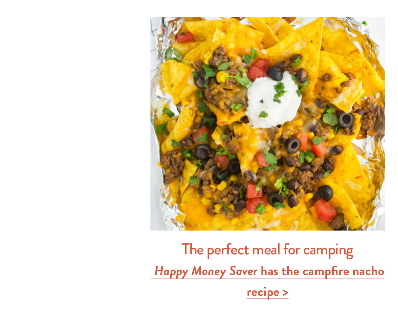 The perfect meal for camping