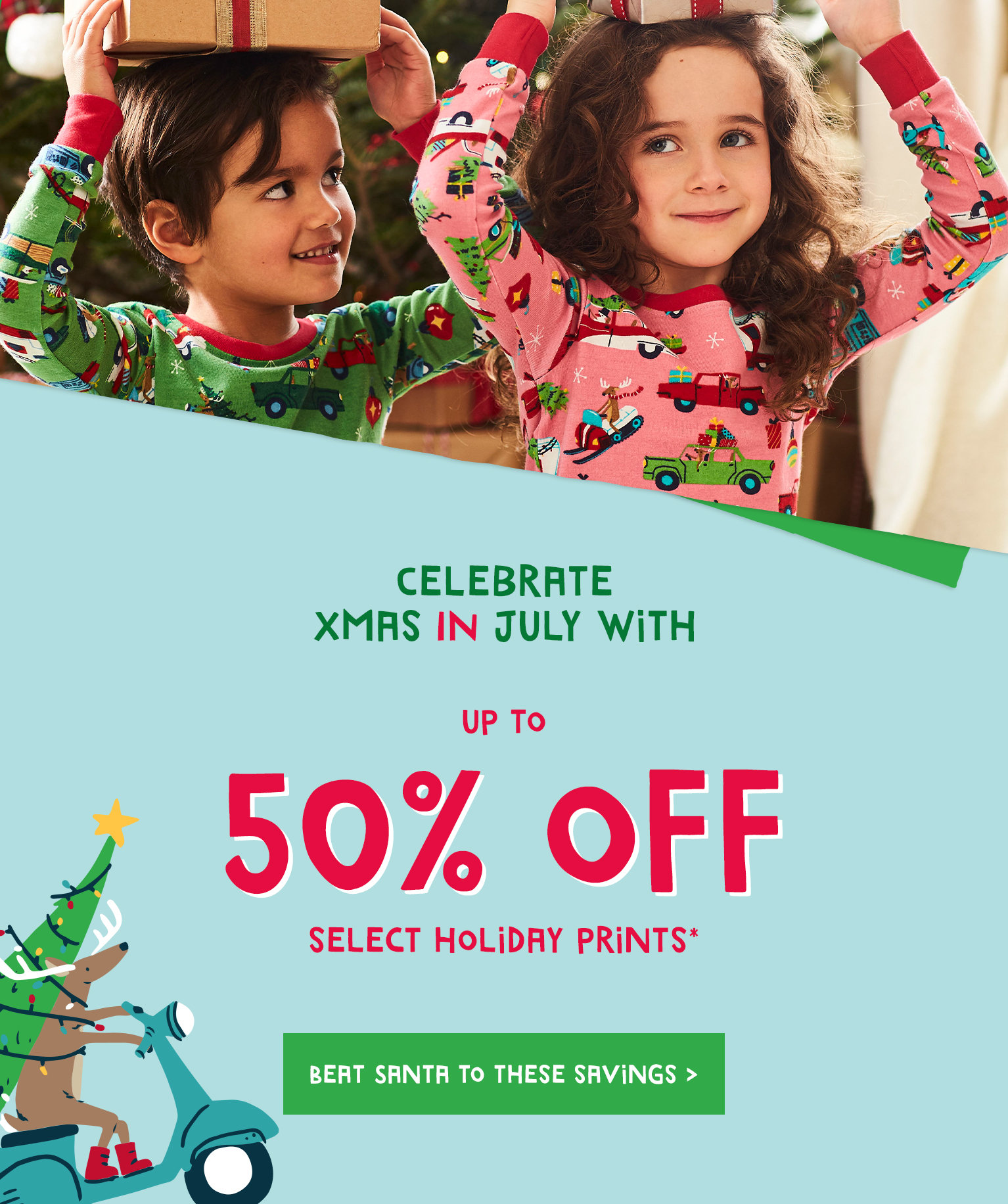 xmas in July - up to 50% off select holiday prints