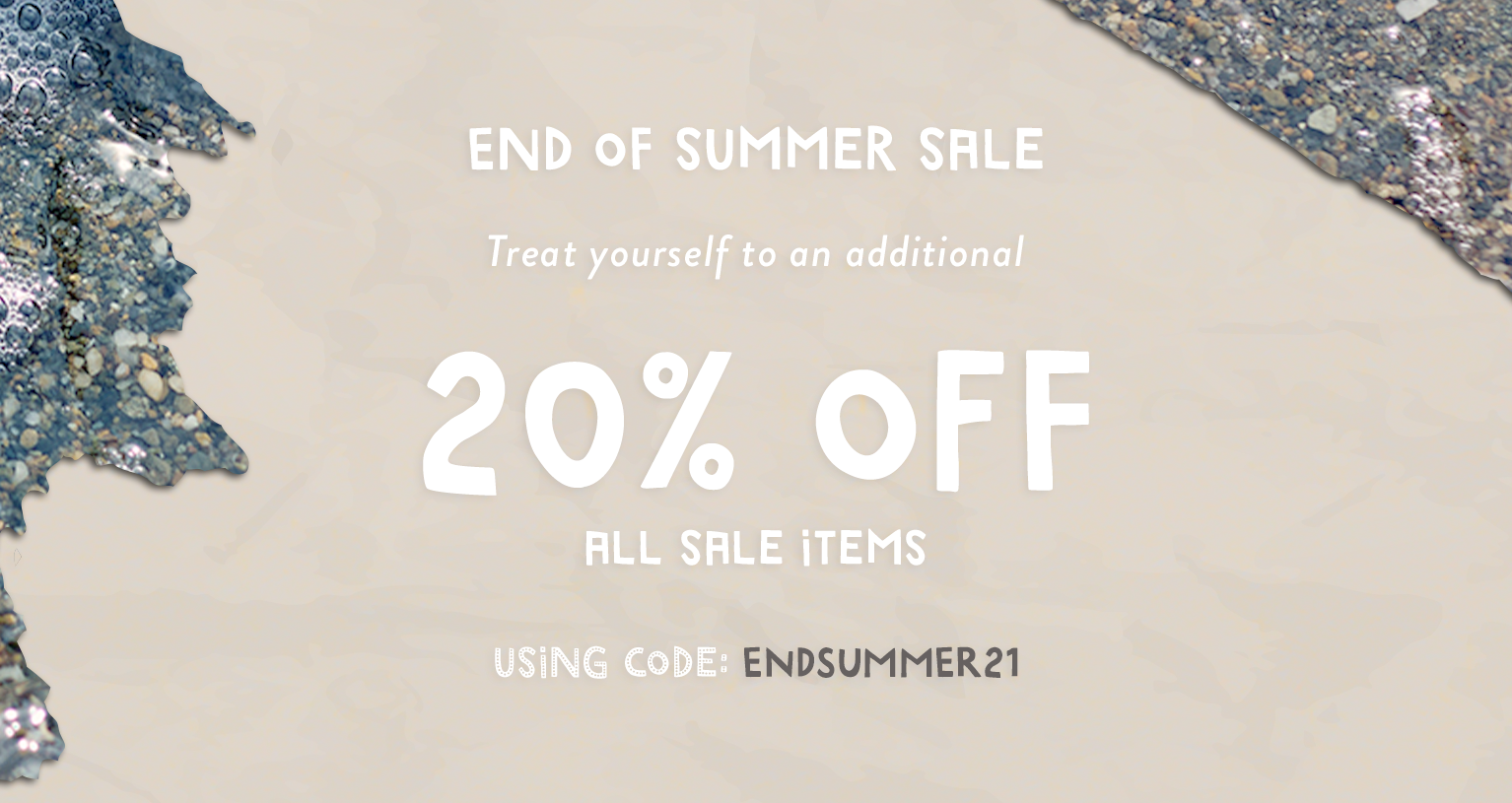 End of Summer Sale - Up to 50% off select styles