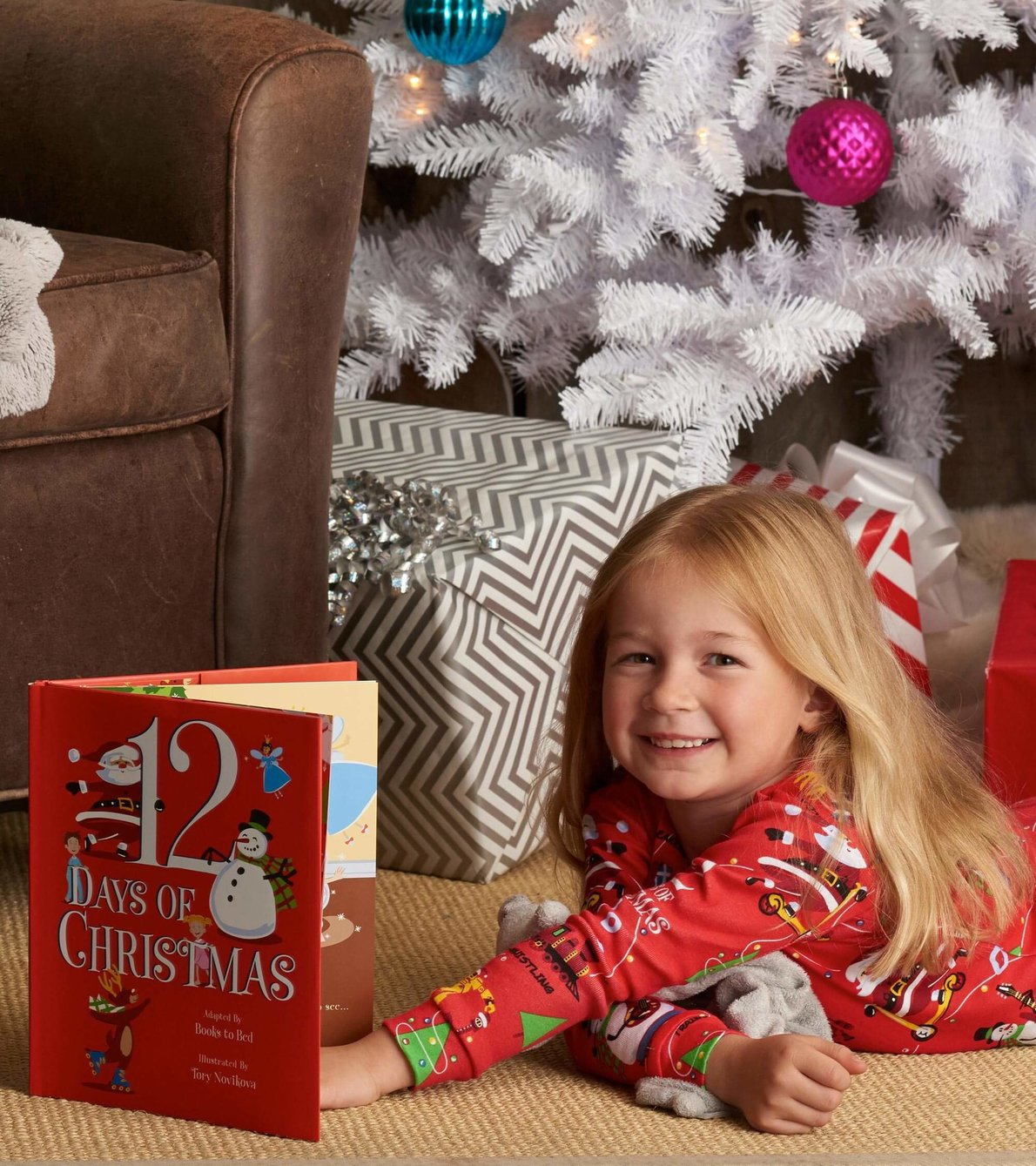 View larger image of 12 Days Of Christmas Book and Red Pajama Set