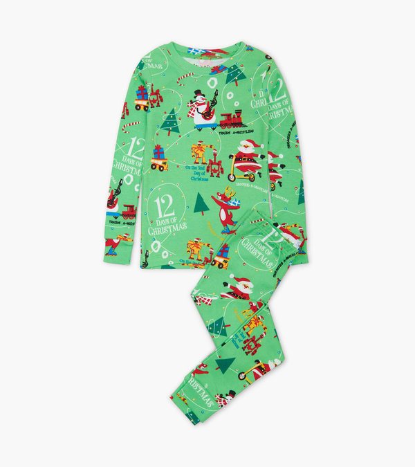12 Days of Christmas Green Pajama Set