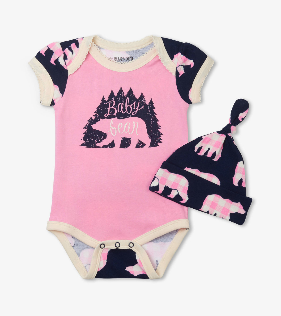 View larger image of Baby Bear Pink Bodysuit with Hat