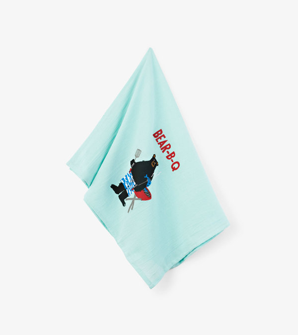 Bear-B-Q Tea Towel