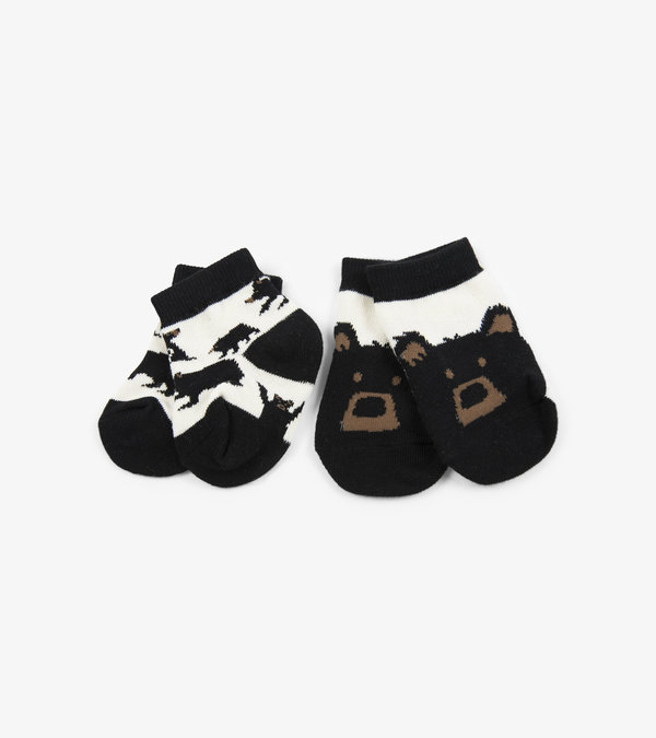 Bears on Natural 2-Pack Baby Socks