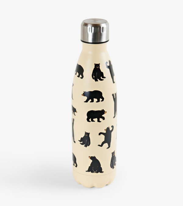 Bears on Natural Travel Bottle