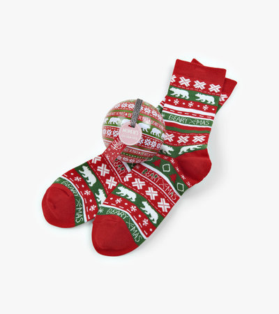 Beary Xmas Women's Socks in Balls