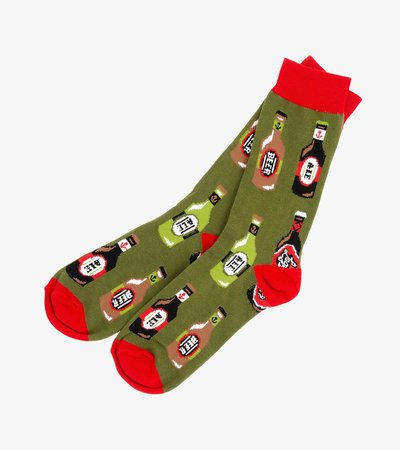 Beer Bottles Men's Crew Socks