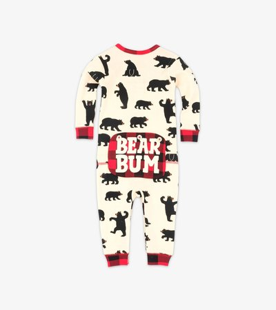 Black Bear Baby Union Suit