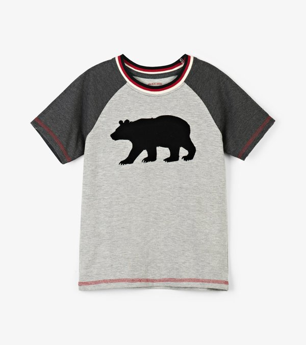 Black Bear Kids Heritage Raglan Tee