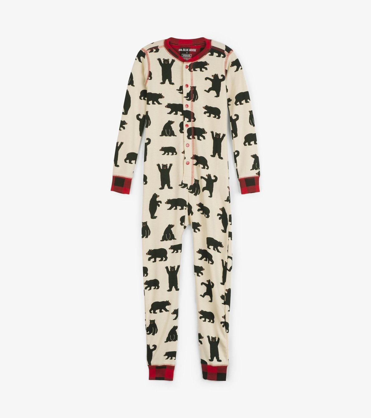 View larger image of Black Bear Kids Union Suit