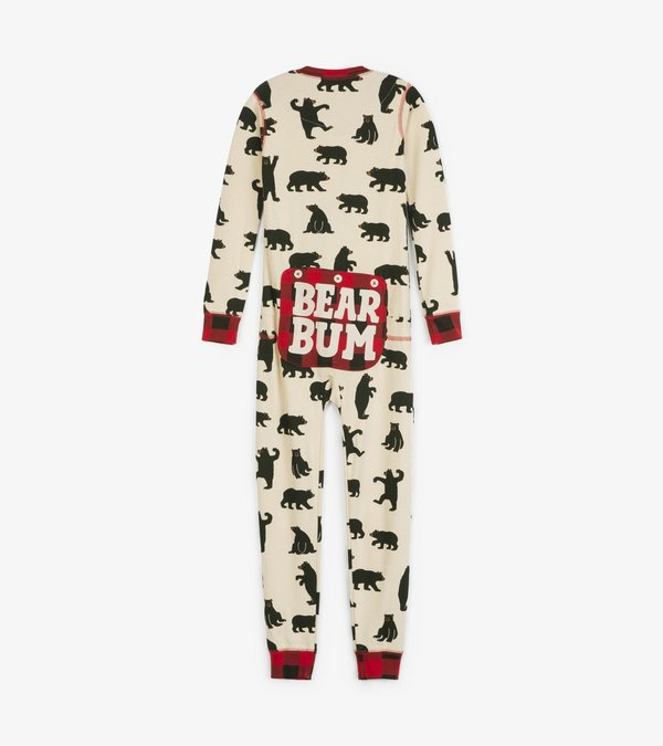 Black Bear Kids Union Suit