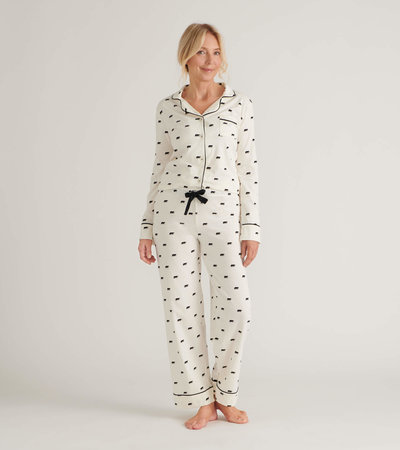Black Bear Women's Pajama Set