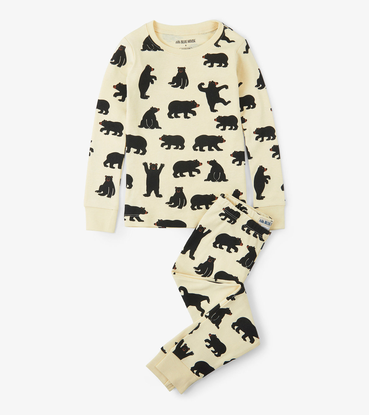 View larger image of Black Bears Kids Pajama Set