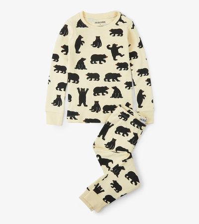 Black Bears Kids Pajama Set