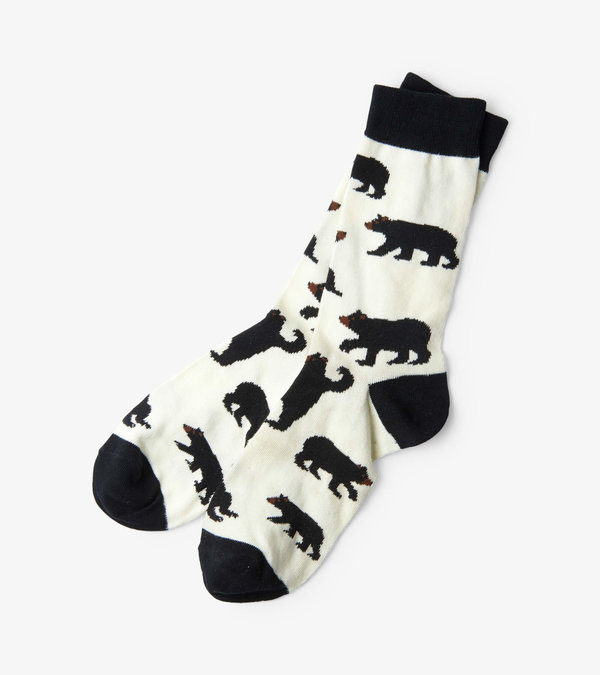 Black Bears Men's Crew Socks