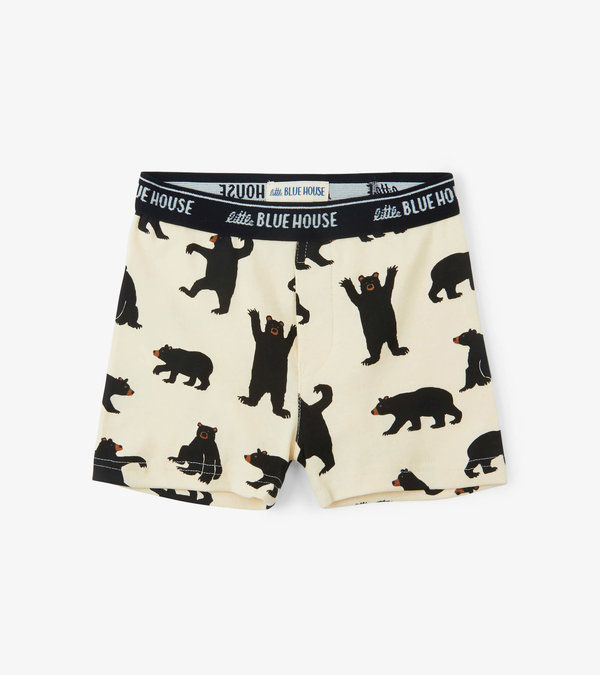 Black Bears on Natural Boys' Boxer Briefs