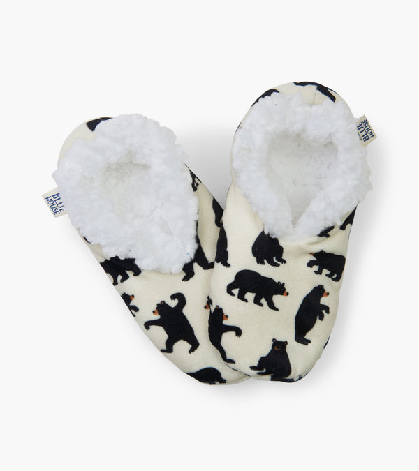 Black Bears Women's Warm and Cozy Slippers