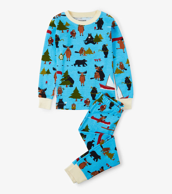 Blue Book Animals Kids Pajama Set