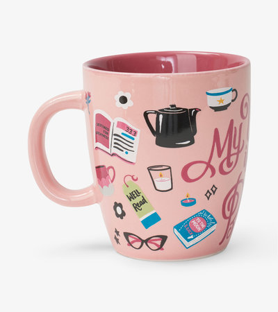 Book Club Curved Ceramic Mug