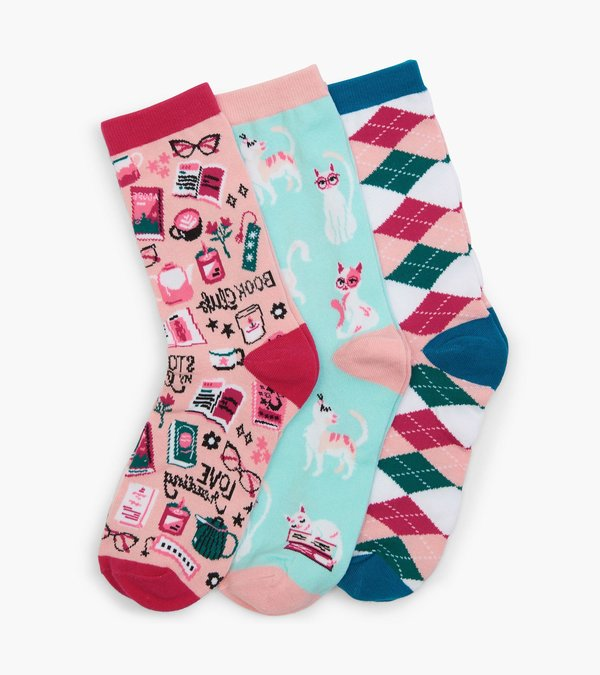 Book Club Women's Crew Sock Set