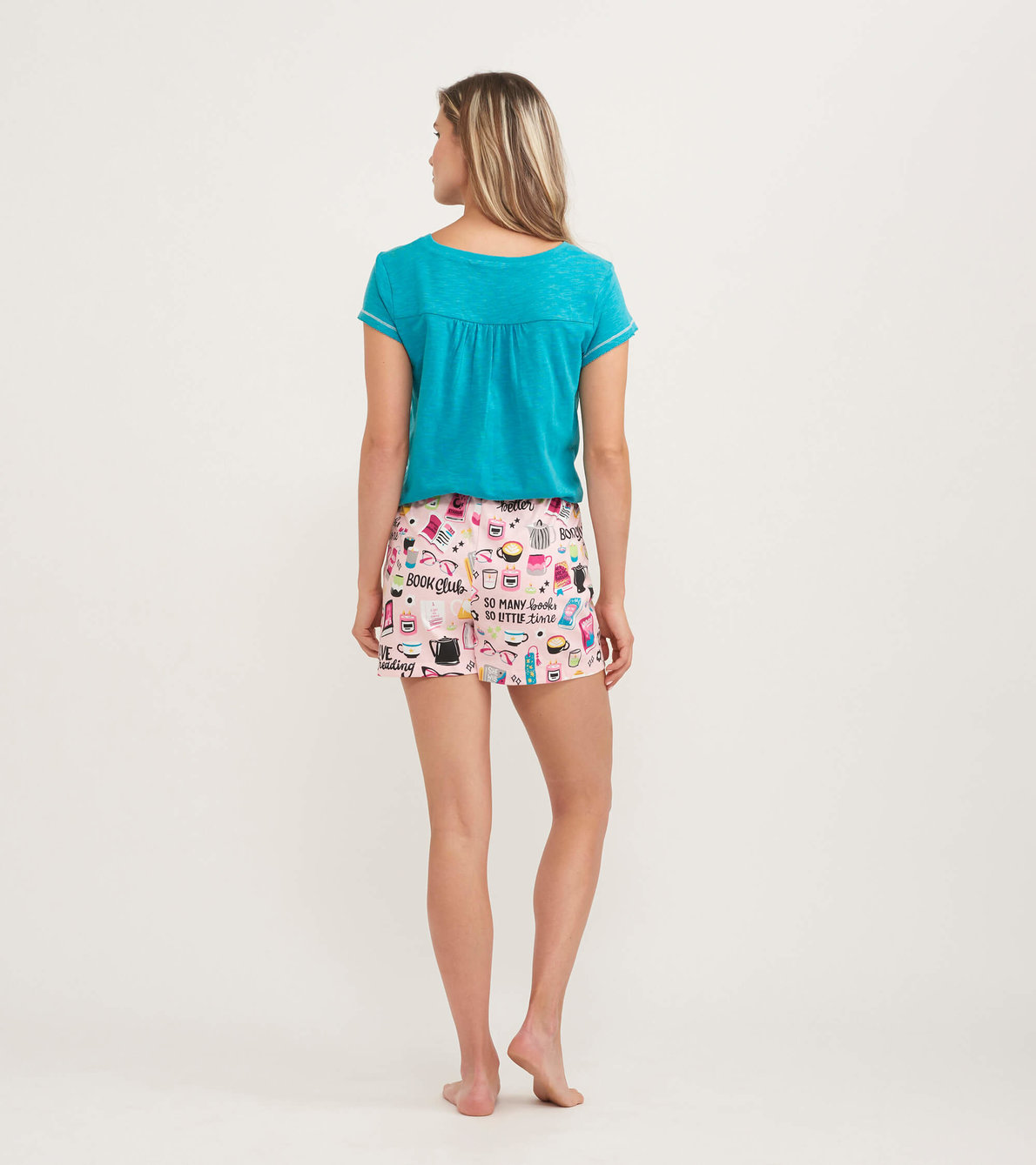 View larger image of Book Club Women's Tee and Shorts Pajama Separates