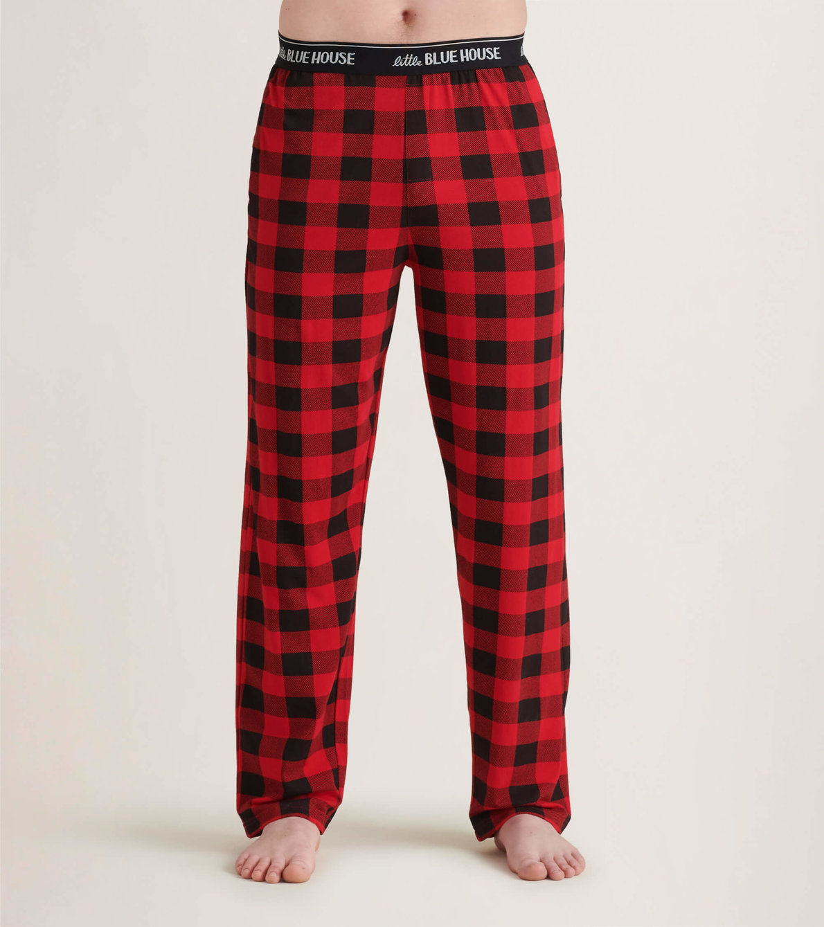 View larger image of Buffalo Plaid Men's Jersey Pajama Pants