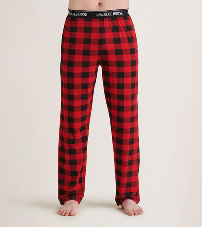 Buffalo Plaid Men's Jersey Pajama Pants