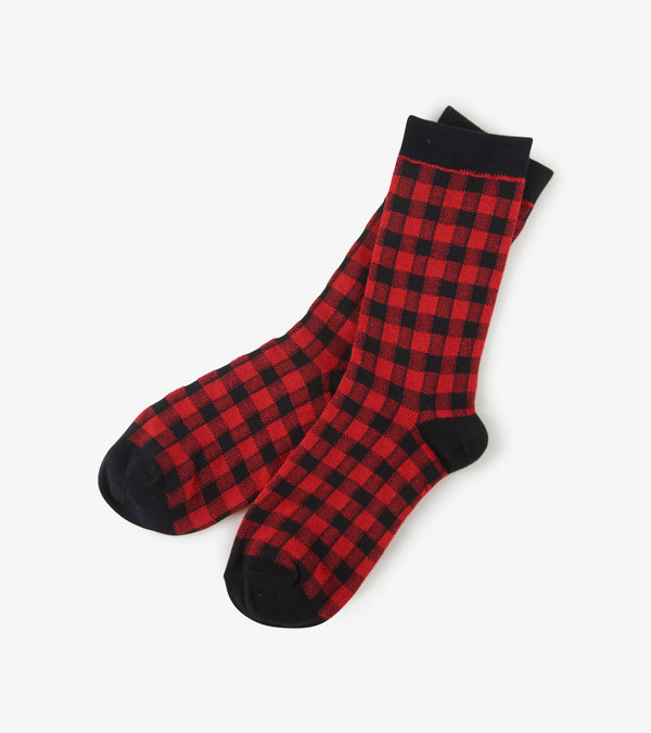 Buffalo Plaid Women's Crew Socks