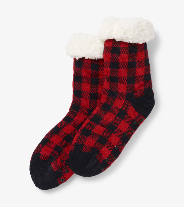 Buffalo Plaid Women's Sherpa Lined Cabin Sock
