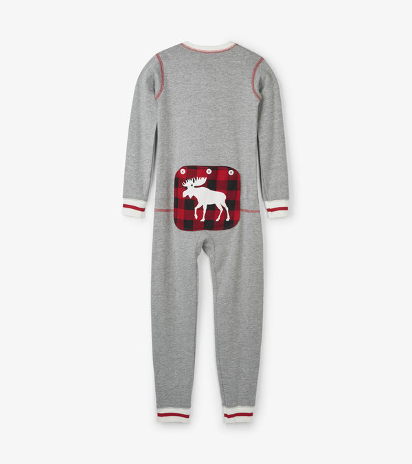 Canadiana Moose Kids Union Suit