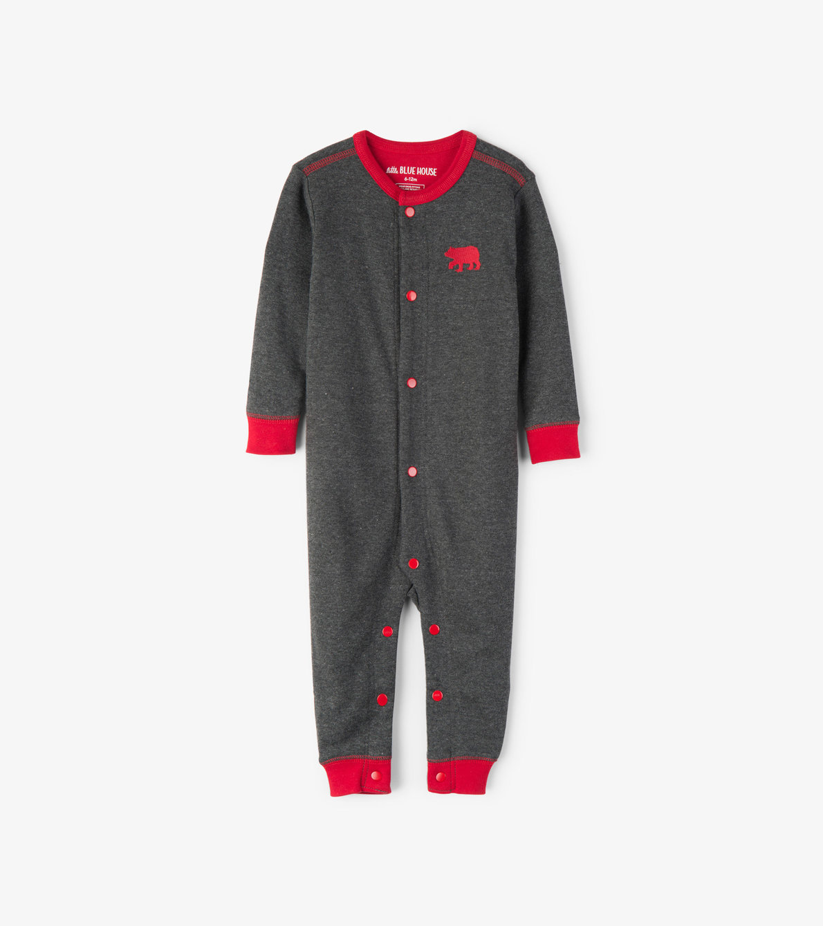 View larger image of Charcoal Bear Naked Baby Union Suit