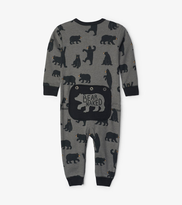 Charcoal Bears Baby Union Suit