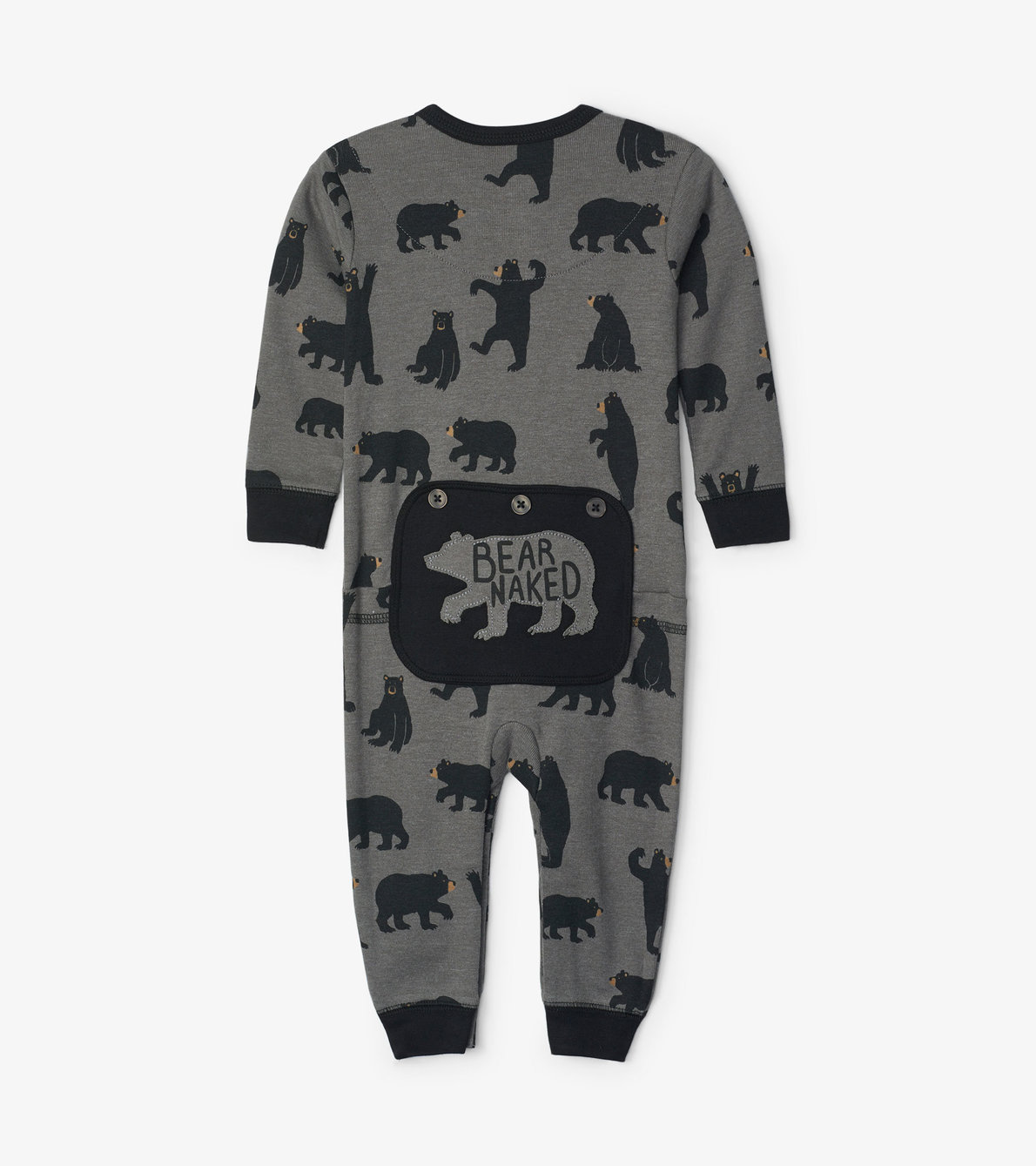 View larger image of Charcoal Bears Baby Union Suit