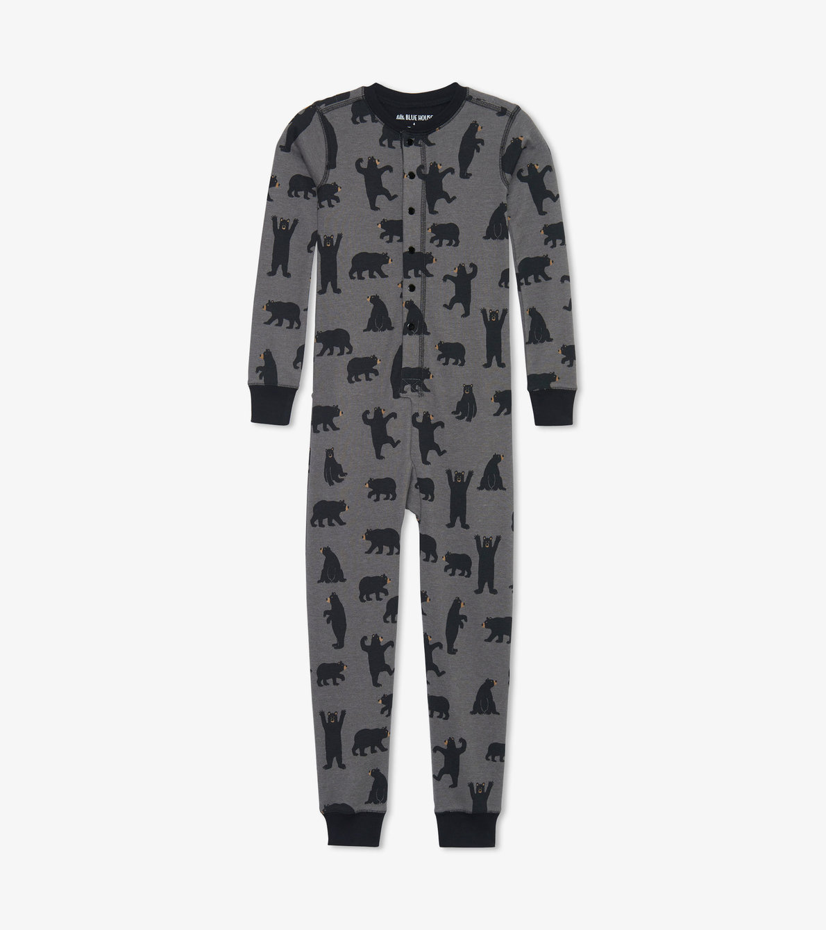 View larger image of Charcoal Bears Kids Union Suit