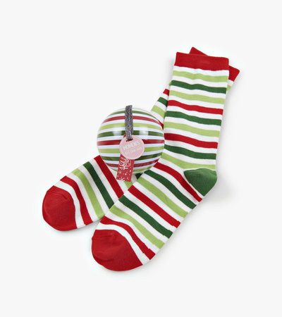 Christmas Stripe Women's Socks in Balls